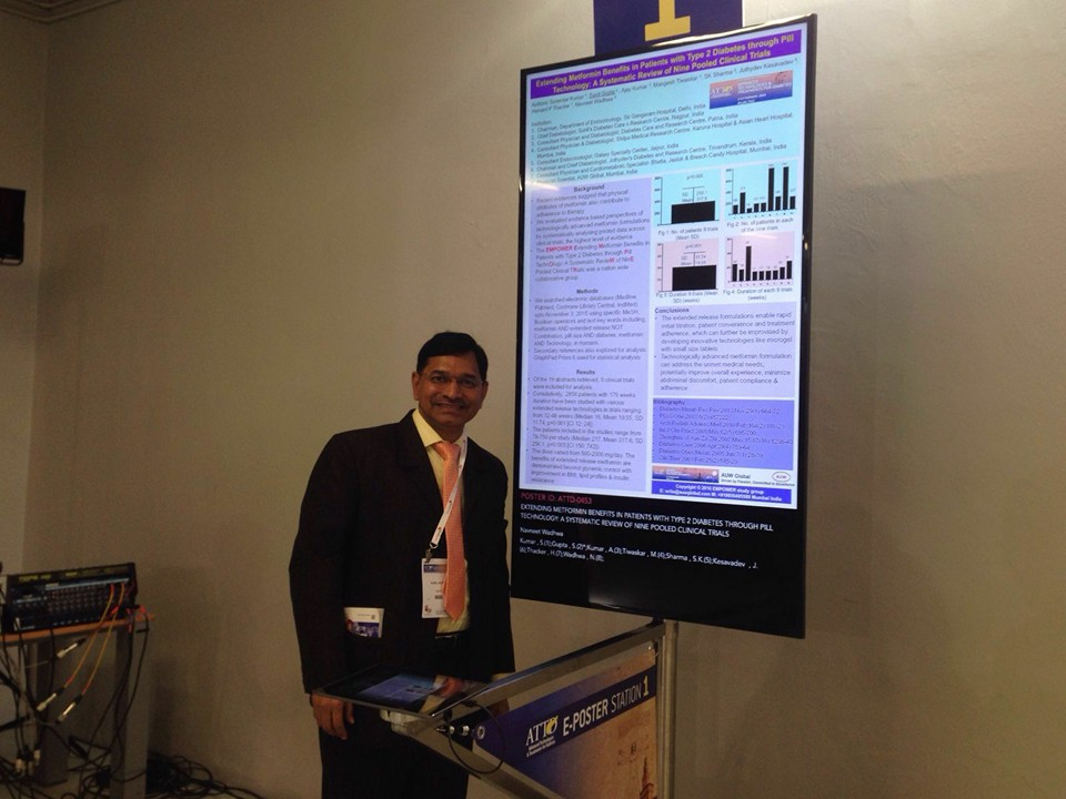 dr  gupta presented e-poster presentation at international meet